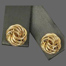 Vintage 14K YG Love Knot Stud Earrings