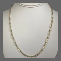 Outstanding! 20-Inch 13.4 Grams Solid 14K YG Classic Paperclip Link Chain