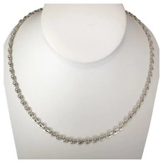 Vintage 24 Inch Fancy Link Sterling Silver Chain