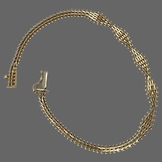 Vintage Imperial Gold 14K YG Handmade Bracelet 7-1/8 Inches