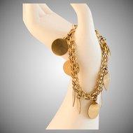 Wonderful Vintage Charm Bracelet 1/20th 12KGF 7 Inches