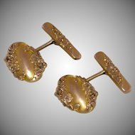 Beautiful Art Nouveau Gold Fill Cufflinks