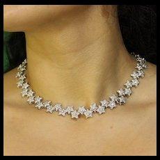 Diamonds and Stars Convertible Necklace to Bracelets, 18k