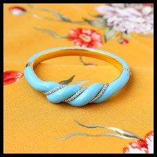 Vintage Enamel and Diamond Bracelet, 18k