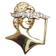 Masquerade Diamond and 14 Karat Gold Pendant