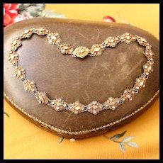 Antique Paste Collar Necklace, 14k