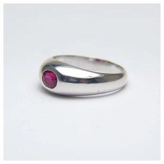 EDIE Vintage Natural Ruby 18 Karat Gold Ring