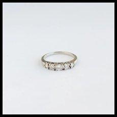 Vintage Diamond Five Stone Band, 14k