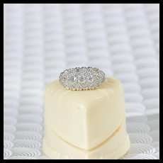 Art Deco Diamond Paneltop Ring, 18k