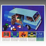 1964 Ad - GMC TRUCKS - 'Announcing the Handi-Van!'