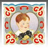 Vintage Valentine - 'Bow Tie Boy' - c.1920s