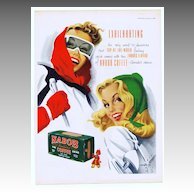 1948 Ads w/ SKI Theme - NABOB Coffee / PLAYER'S Cigarettes (on reverse)