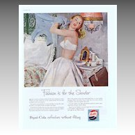 1953 Ad - PEPSI-COLA - 'Fashion is for the Slender'