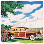 1949 Ad - PLYMOUTH ~ Woody / Woodie Station Wagon
