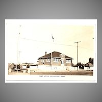 'POST OFFICE, Broadview, Sask.' - REAL PHOTO Postcard - Saskatchewan, Canada c.1920s