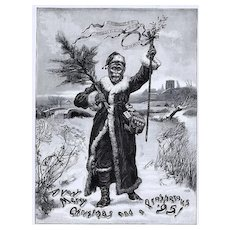 1894 Ads - MONKEY Brand SOAP ~ Victorian Father CHRISTMAS / United Kingdom TEA Co. (on reverse) ~ XLG