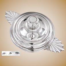Rare 18th century French Sterling Silver Ecuelle Covered Dish  AVIGNON c. 1770