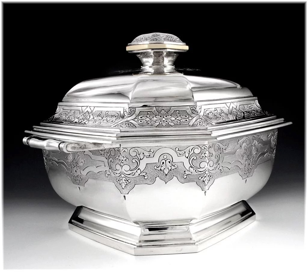 Tetard Antique French Sterling Silver Regency Style