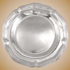 François-Thomas GERMAIN : Rarest Antique 18th century French Louis XV Sterling Silver Platter PARIS 1756