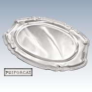 "PUIFORCAT : Exceptional 21.9"" Antique French Sterling Silver Serving Platter / Tray - 2248 grams!"