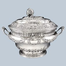 FAMECHON : Antique 18th century French Louis XVI Sterling Silver Vermeil Soup Tureen Paris 1789