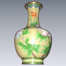 Vintage  chinese enamel Cloissone Vase
