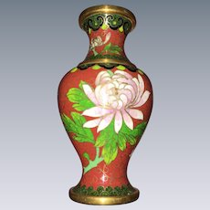 Vintage chinese enameled Cloisonne Vase