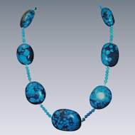 Turquoise Large  Nugget Necklace