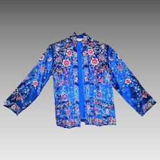 Vintage Chinese Silk hand Embroidered Kimono Jacket coat plum blossoms