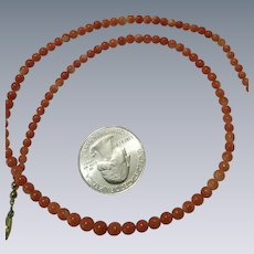 Vintage round coral beaded necklace
