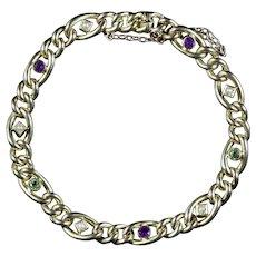 Antique Victorian Bracelet Suffragette 15ct Gold Circa 1900