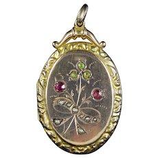 Antique Victorian Suffragette Locket 9ct Gold Circa 1900
