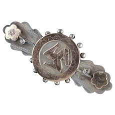 Antique Victorian Gold Silver Brooch Isle of Man Dated 1900