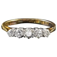Antique Edwardian Diamond Ring 18ct Gold Platinum Circa 1910