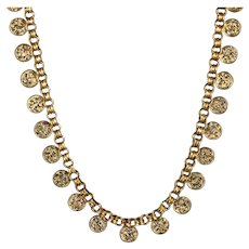 Antique Victorian Collar Necklace 18ct Gold Silver Circa 1900