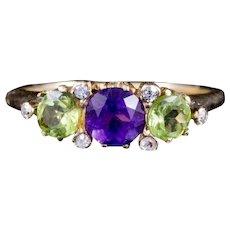 Antique 18ct Gold Suffragette Ring Victorian Circa 1900