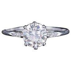 Antique Edwardian Old Cut Diamond Engagement Ring 18ct Gold Circa 1910