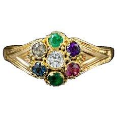 Antique Victorian Dearest Ring 15ct Gold Circa 1860