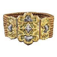 Antique Georgian Mourning Hair Bracelet 18ct Gold Circa 1780