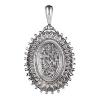 Antique Victorian Mourning Ivy Locket Sterling Silver Dated 1864