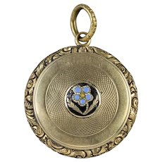 Antique Georgian Forget Me Not Locket 18ct Gold Circa 1830