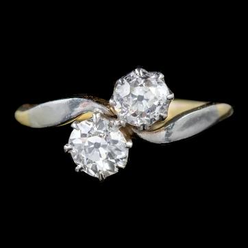 Antique Edwardian Diamond Ring 1.04ct Diamond 18ct Gold Platinum Circa 1915 CERT
