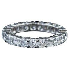 Vintage Art Deco Diamond Full Eternity Ring Platinum 2ct Of Diamond Circa 1930