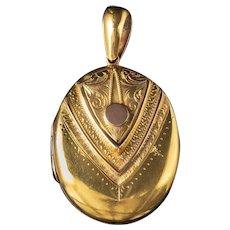 Antique Victorian Locket Solid 15ct Gold Circa 1880