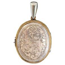 Antique Victorian Floral Family Locket 9ct Gold Circa 1890