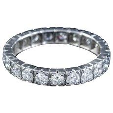 Vintage French Diamond Full Eternity Ring Platinum 2.20ct Of Diamond Circa 1920