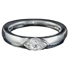 Diamond Band Eternity Ring 18ct White Gold 0.60ct Marquise Diamond