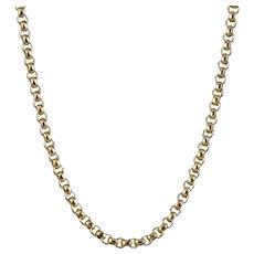 Antique Victorian Gold Chain Necklace 9ct Gold Circa 1900