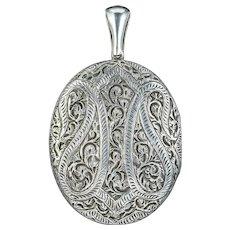Antique Victorian Sterling Silver Locket Circa 1880