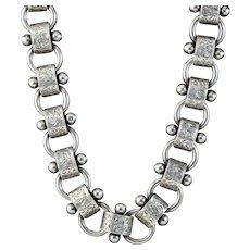 Antique Victorian Silver Collar Necklace Circa 1880